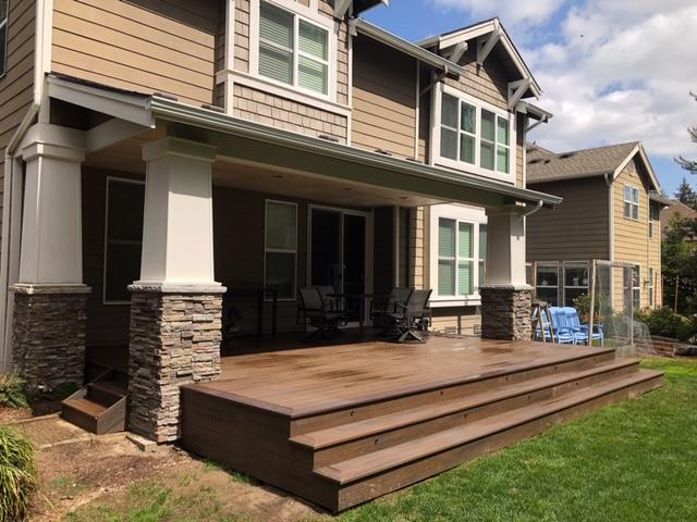 Port Orchard, WA | Trex Deck and Roof Addition
